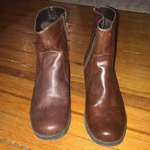 Aerosoles brown booties.  Size 7.5